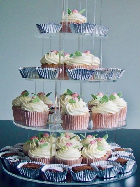 Forkful Food Cupcake stand