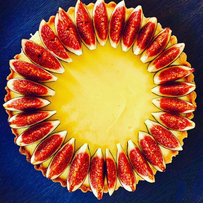 Forkful Food Lemon Fig Tart