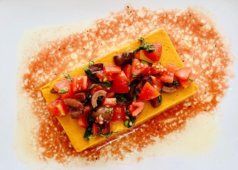 Forkful Food Red Pepper Mousse