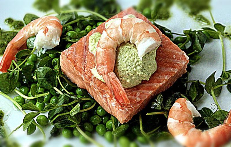 Forkful Food Salmon Pea Mousse
