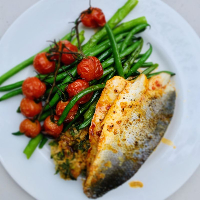 Forkful Food Sea Bass