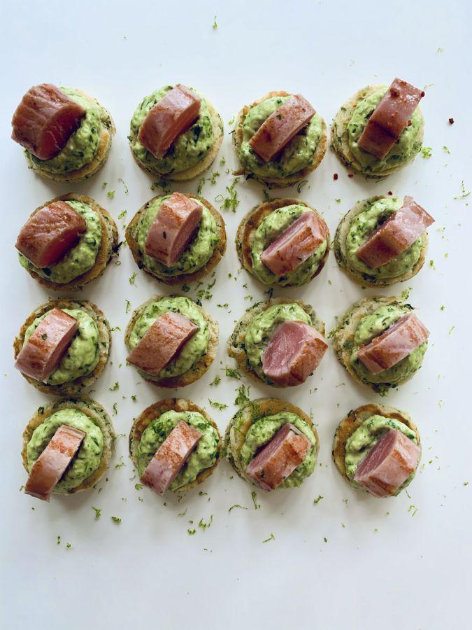 Forkful Food Tuna Blini
