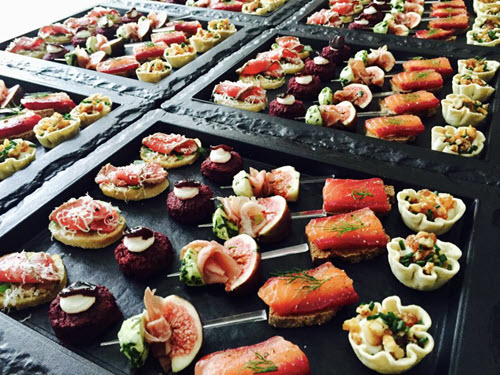 Party Food Mixed Platter Forkful food